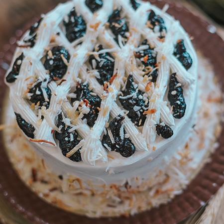 Torta Ameixa com Coco