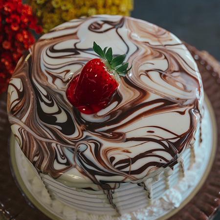 Torta Dois Amores com Morango