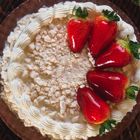 Torta Morango com Ninho