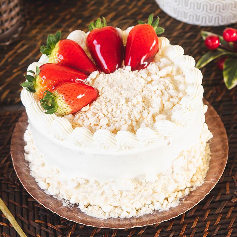 Torta de Morango com Suspiro