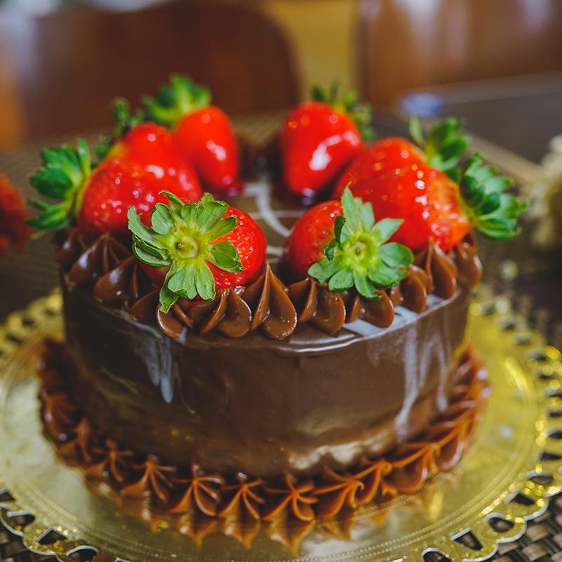 Torta de Morango com Brigadeiro